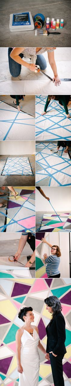 How To: No-Sew Wedding Backdrop A Practical Wedding: Blog Ideas for the Modern Wedding, Plus Marriage