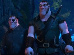 The Stabbington Brothers are a pair of thieves and the secondary antagonists from Disney's 2010 animated film, Tangled. Each of their names are never told and their last name is only revealed by a wanted poster next to Flynn Rider's. They appear to be twins, both having red hair, light blue eyes, big noses, big jaws, muscular bodies and the same height. Their haircuts are almost similar (their fringes are combed in different directions), their skin tone the same, both have red cheeks…