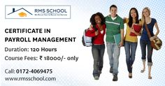 Looking for ‪#‎Payroll‬ ‪#‎Management‬ training courses? RMS School will give you all you need to start your new career payroll management in ‪#‎Chandigarh‬ ‪#‎Mohali‬ ‪#‎Panchkula‬