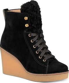 Acquaint yourself with the Ugg Kiernan Wedge Lace-Up Booties. High quality boots created by Ugg shown in Black. Buy a pair of these boots created by the designer Ugg. Women's Lace Up Boots, Lace Up Booties, Lace Up Ankle Boots, Suede Booties, Black Booties, Ankle Booties, Ugg Australia, Ugg Boots, Shoe Boots