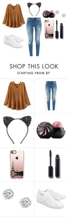 """""""Sem título #186"""" by debbiecollinsj on Polyvore featuring moda, WithChic, Ted Baker, Cara, Casetify, Chanel e adidas Originals"""