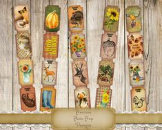 Vintage Fall Tickets Ephemera Printable for Junk Journals Planers and Scrapbooks, Autumn Pumpkins Leaves Sunflower Animals Tickets Journal Paper, Journal Cards, Christmas Tag, Vintage Christmas, Lace Background, Pumpkin Leaves, Vintage Fall, Digi Stamps, Autumn Theme