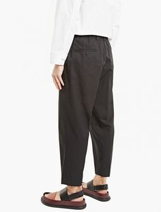 Marni,Black Relaxed Cotton Trousers,BLACK,0