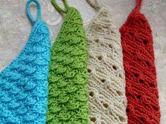 Handtücher gestrickt, verschiedene Muster