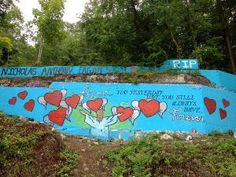 Supporters painted another mural memorializing local victims of drug abuse on a rock wall.