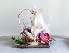Check out this item in my Etsy shop https://www.etsy.com/listing/544248759/pink-shabby-chic-crown-bird-nest-home