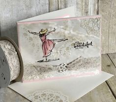 """Today's post was inspired by Buffy Cooper...thanks Buffy! And I have to tell you this stamp set, Beautiful You, in the Occasions Catalog that goes """"live"""" tomo"""