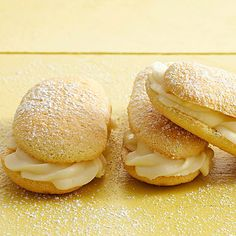 Lemon Ladyfinger Sandwich Cookies