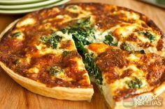 Receita de Torta de brócolis com queijo e bacon