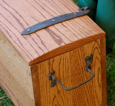 Oak Viking Chest - Viking Krafts. The hinges are patterned from the Mastermyr chest, from 9th century Sweden.