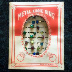 65pcs METAL KIDDIE RINGS Vintage 1940s by cOveTableCuriOsitiEs