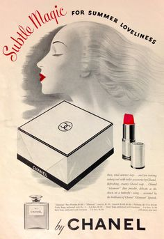 "Chanel ""Subtle Magic"" Cosmetics Ad, 1942"