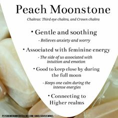 Peach Moonstone crystal meaning