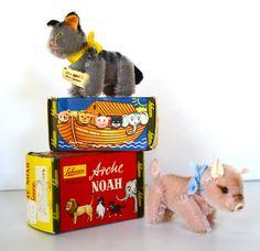 Schuco Noah's Ark Cat & Pig