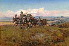 In The Enemy's Country - Charlie Russell in his youthCharles Marion Russell (b. 1864, Oak Hill, Missouri - d. 1926, Great Falls, Montana), also known as C.M. Russell, was one of the great artists of the American West. Russell created more than 2,000 paintings of cowboys, Indians, and landscapes set in the Western United States, in addition to bronze sculptures. His mural entitled Lewis and Clark Meeting the Flathead Indians hangs in the state capitol building in Helena, Montana.
