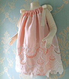 2T3T size Refashioned Vintage Pillowcase Dress by TastefulTikes