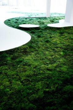 TOKYO FIBER '09 SENSEWARE「Time of Moss」imagine wood rather than the white shown