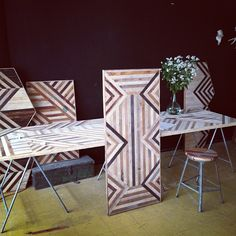 Brooklyn to West... An amazing studio churning out some incredibly designed wood furniture and art.  I want a new table!