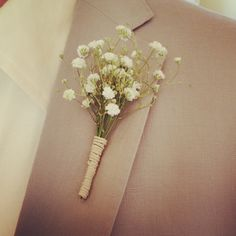 bridal bouquets with babys breath | ... we did for them including these adorable babies breath boutonnieres