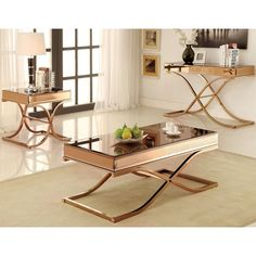 Furniture of America Orelia Luxury Copper Metal Sofa Table - Overstock Shopping - Great Deals on Furniture of America Coffee, Sofa & End Tables