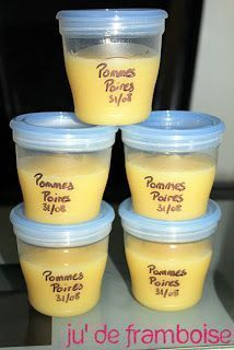 [TuTo] Keep purees and compotes baby … without breaking the bank! Baby Puree, Compote Recipe, Baby Cooking, Homemade Baby Foods, Baby Born, First Baby, Baby Food Recipes, Food Baby, Kids Meals