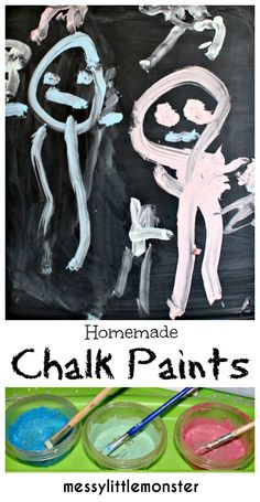 Messy Little Monster: Homemade chalk paint recipe