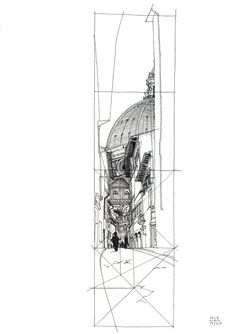 Louis Kahn Sketches | Image of Duomo sketch