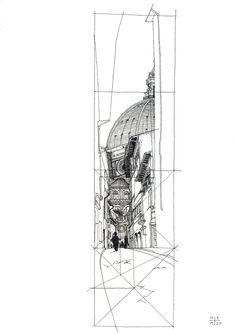 Louis Kahn Sketches | Image of Duomo sketch