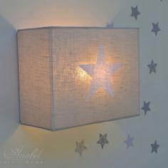 Lámpara infantil de pared estrella, aplique, applique murale étoile, start wall lamp, sconce Piedra, ESTRELLA blanca