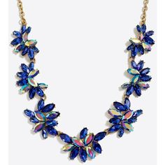 J.Crew Gemstone cluster necklace ($33) ❤ liked on Polyvore featuring jewelry, necklaces, chains jewelry, gemstone necklaces, adjustable necklace, gem necklace and gem jewelry