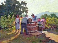 Seasons, Illustration, Painting, Ideas, Harvest Grill, Seasons Of The Year, Painting Art, Paintings, Illustrations