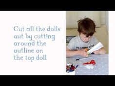 Arts and crafts with children: How to draw your own Paper Dolls