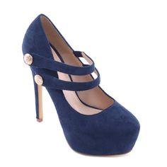NŐI PÁNTOS PLATFORMOS TŰSARKÚ KÉK SZÍNBEN - ALKALMI CIPŐK - Női cipő  webáruház-női csizmák 2d47c5a335
