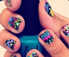 Nail Art Designs are one of the most famous type of artwork among the ladies. Nail art designs are the decoration of nails with beautiful, unique drawings. Love Nails, How To Do Nails, Fun Nails, Pretty Nails, Crazy Nails, Style Nails, Sexy Nails, Dream Nails, 3d Nail Art