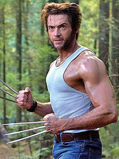 He's reportedly a nice guy, married to an older woman, great to people on set and won me over as Wolverine and blather, drool, swoon..ah what was I saying?? Oh yeah..here's Hugh Jackman.