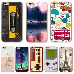 For iPhone6S Soft TPU Cover For Apple iPhone 6 6S Case Cases Phone Shell Top Fashion Painted Funny Tape Riverside Reflection #Affiliate