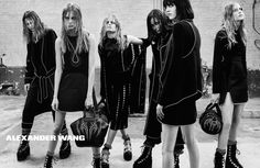 Alexander Wang fall 2015: Squad goals gone goth. We love how the designer cast his own personal Bad Girls Club for the campaign, including his party pals Lexi Boling, Binx Walton and Hanne Gaby Odiele. Photo: Steven Klein.