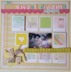 Sweet dreams #scrapbook #layout