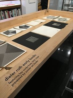 dieter roth early books | Installation at Gagosian Shop | from Zucker Art Books selection of books