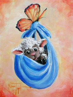 baby sheep art