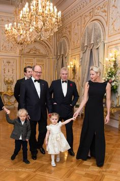 Prince Albert and Princess Charlene hosted a dinner for Prince Andrew at the Royal Palace in Monaco