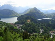 Look out any balcony in Neuschwanstein Castle and this is the view you get.