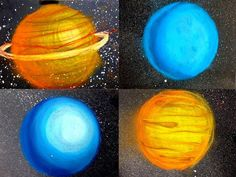 Teach shading techniques with a planets space art project. Here is a chalk art project for fifth grade that focuses on the basics of art like shading a sphere. Middle School Art, Art School, School Stuff, School Ideas, Solar System Art, 5th Grade Art, Fourth Grade, Ecole Art, Science Art