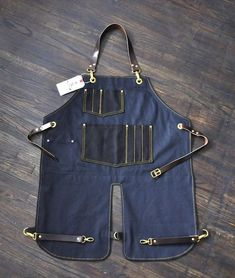 Image result for jean aprons with leather