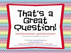 FREE Questioning Ring to use as a reference for during lessons