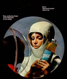 """Tomorrow's Lestoil!   """"Women of the future will make the Moon a cleaner place to live"""""""