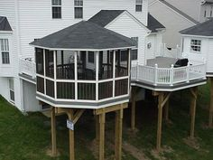 Screened porch gazebo ideas...could put a hot tub in the gazebo!