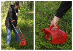 Berry picker in use in the Finnish forest!  Made in Finland.