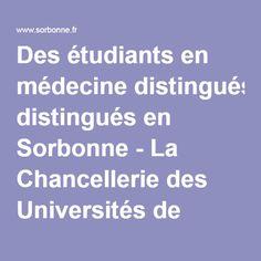 Des étudiants en médecine distingués en Sorbonne - La Chancellerie des Universités de Paris | La Chancellerie des Universités de Paris