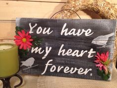 """""""Love"""" Heart HANDMADE Pallet Family Wedding Rustic Country SIGN Wall Decoration  